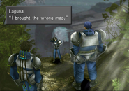 Laguna brought the wrong map to Centra in FFVIII R