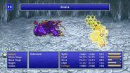 Rydia using Asura Protect from FFIV Pixel Remaster