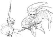 Kumo action sketch 3 for Final Fantasy Unlimited