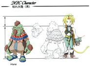 Dwarf Male FFIX Art 3