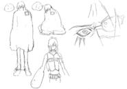 Kaze sketch 3 for Final Fantasy Unlimited