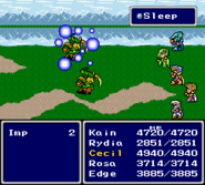 FFIV SNES Sleep