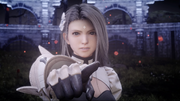 Sarah angry in Close Encounter of the Terra Kind in FFXV