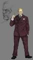 President Shinra artwork for Final Fantasy VII Remake