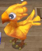 Yellow chocobo NPC render ffiv ios