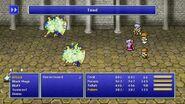 Tellah using Toad from FFIV Pixel Remaster