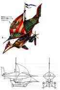 Lindblum Freighter C FFIX Art