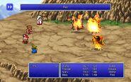 BLM using Fire from FFIII Pixel Remaster