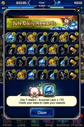 FFBE July 2016 Daily Rewards (Global)