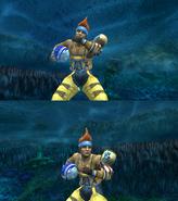 Wakka Victory Pose Underwater