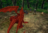 Ruby Dragon fought in Centra forest from FFVIII Remastered
