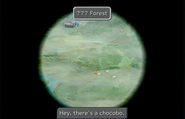 Chocobos Forest through the Lindblum Castle telescope from FFIX Remastered