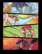 FFIII Manga Party Color