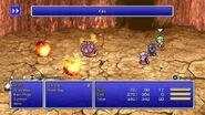 Tellah using Fire from FFIV Pixel Remaster