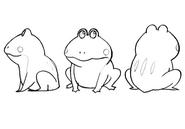 Cid frog sitting sketches for Final Fantasy Unlimited