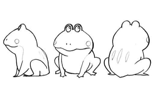 Cid frog sitting sketches for Final Fantasy Unlimited.png