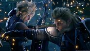 Cloud and Roche clash from FFVII Remake