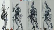 FFXIV viera concept art
