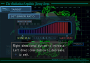 Missile Base set the error ratio from FFVIII Remastered