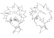 Kumo face sketch for Final Fantasy Unlimited