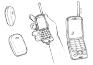 Lisa's cellphone sketch for Final Fantasy Unlimited