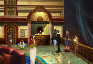 Queen of Cards in Deling City Hotel from FFVIII Remastered
