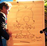 Amano drawing Mog