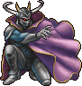 The first boss in the series, Garland.