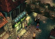 Dog next to the Dollet pub from FFVIII Remastered
