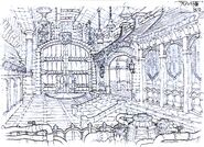 Lindblum Castle Dragon's Gate FFIX Art