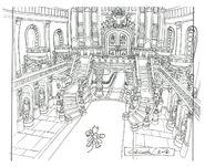 Lindblum Castle Throne Room Hallway FF9 Art