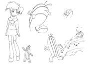 Cactuar concept sketch 2 for Final Fantasy Unlimited