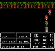 FFII NES Critical Hit