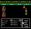 FFII NES Curse Status