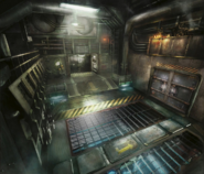 Mako Reactor 1 doors artwork for FFVII Remake