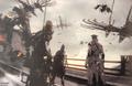 Aranea Biggs and Wedge in Gralea in FFXV Dawn of the Future