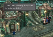 Trying to buy a naughty magazine from FFVIII Remastered