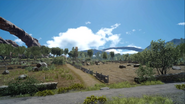 Saxham Outpost abandoned fields from FFXV