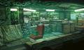 Sector 5 Undercity weapon shop artwork for FFVII Remake