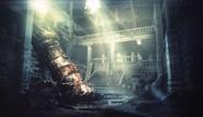 Sector 5 Church crashed rocket artwork for FFVII Remake