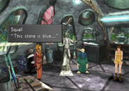 Blue Stone location in Shumi Village from FFVIII Remastered