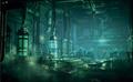 Shinra Underground Test Site artwork for Final Fantasy VII Remake