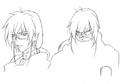 Kaze sketch 1 for Final Fantasy Unlimited