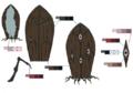 Walnut palette concept for Final Fantasy Unlimited
