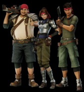 Wedge Jessie and Biggs from FFVII Remake