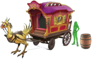 Chocobo Carriage artwork for FFVII Remake