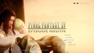 FFXV Episode Ardyn cleared title screen