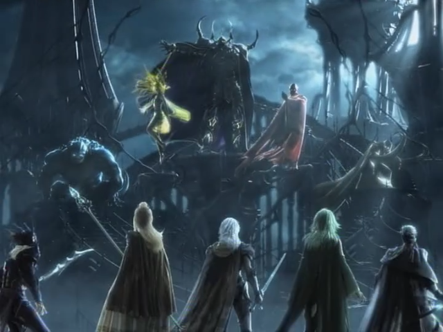 Battle with Golbez's Four Emperors