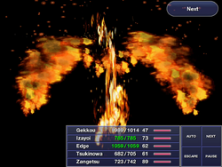 Ultimate Art: Advent of Phoenix in Final Fantasy IV: The After Years (iOS).