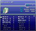 FFVI SNES One MP Cost
